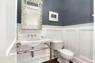Powder room wainscoting contemporary bathroom carole reed design