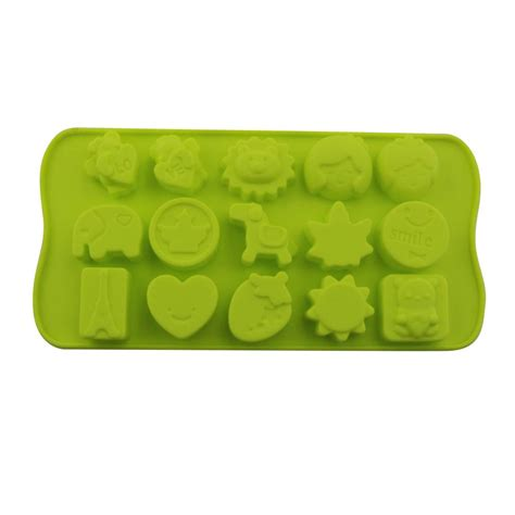 Stick Silicone Chocolate Mold silicone non stick chocolate jelly and baking mold