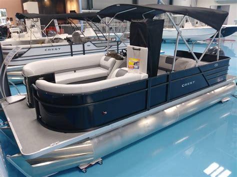 crest pontoons for sale crest pontoon boats i 220 slrd boats for sale boats