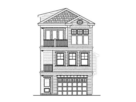 Three Story House Plans by Narrow Home Plans With Garage 3 Story Narrow Lot House