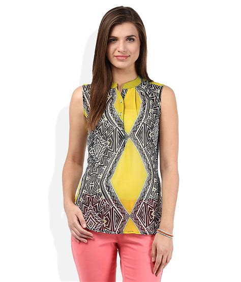 Kaos Oblong Swan Brand Size 38 american swan yellow printed top buy american swan yellow printed top at best prices in