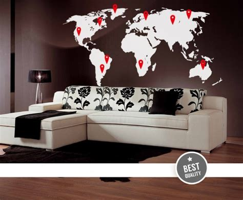 cool wall sticker cool wall decals big world map with pins by artollo