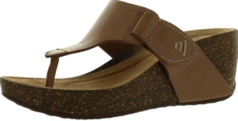 Clarks Womens Temira West Fashion Wedge Thong Comfort