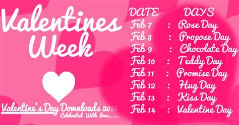 week after 14th feb happy day week list 2018 7th 14th february