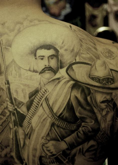 realistic oldie times mexican gangster tattoo