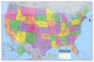 us map poster usa united states map poster 36x24 rolled canvas