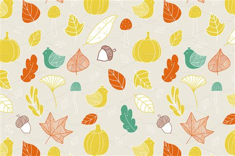 autumn pattern tumblr not found creative market