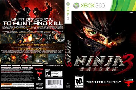 printable xbox 360 game covers games covers cover ninja gaiden 3 xbox 360