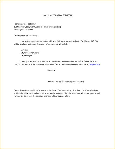 request letter for company representative sle meeting request letter representative pat smiley