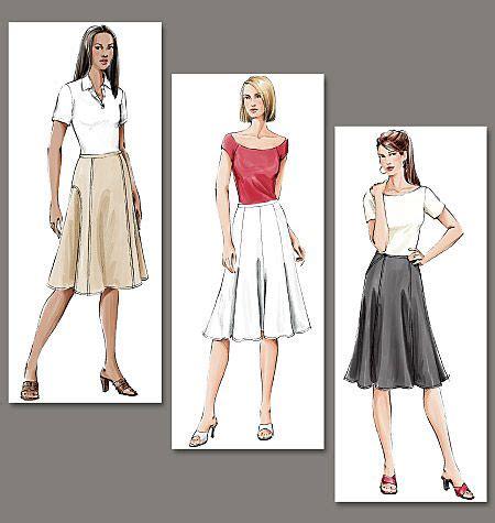Rok Wanita Mid Length Flare Skirt misses skirt vogue patterns fitting flared skirt below mid knee length has seam