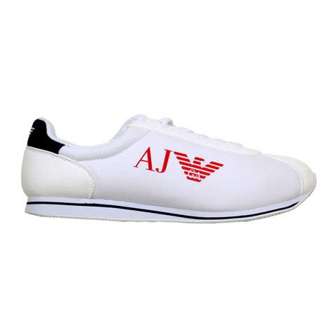 mens white canvas sneakers white sneakers shoes for by armani uk