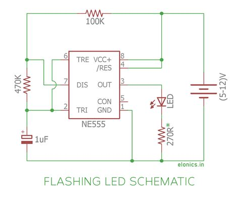 blinking led ckt diagram wiring diagram with description