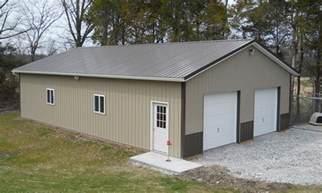 garage pole barn pole garage with storage customer projects june 2011