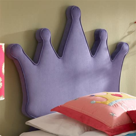 princess crown upholstered headboard by powell