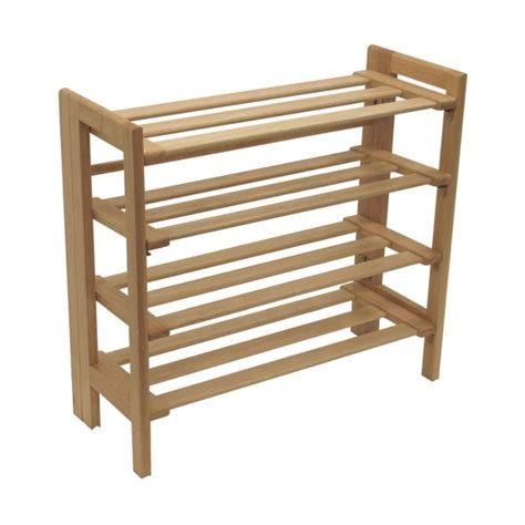 winsome wood 4 tier stackable shoe rack finish 81228