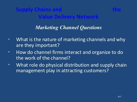 Importance Of Networking In Mba by Marketing Channels Supply Chain Management Parakramesh