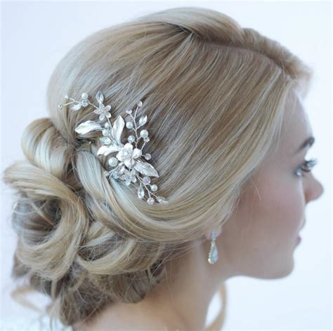 5 Bridal Hair Accessories To by Floral Bridal Hair Clip Bridal Hair Accessory Pearl