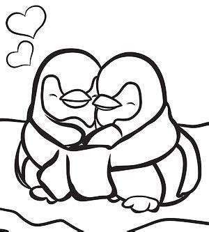 coloring pictures of baby penguins printable winter coloring pages