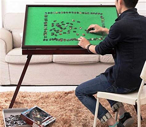 wooden fold   portable folding jigsaw puzzle table