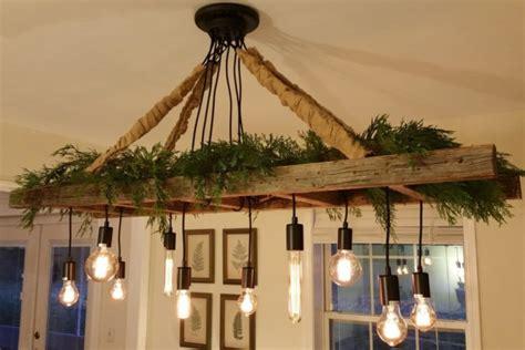 Kitchen Island Farm Table vintage farmhouse ladder chandelier id lights