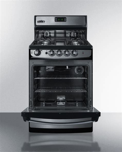 Broiler Drawer Gas Oven by Pro246ss Summit 24 Quot Freestanding Gas Range Broiler Drawer