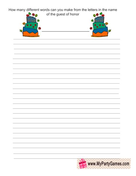 make words out of letters free printable birthday word mining 1495