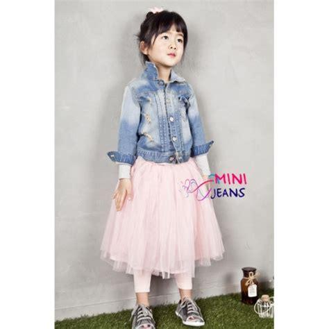 Setelan Dress Anak Perempuan Denim Chambrey Pink 3 4 Thn jual baju anak kecil yang imut dan lucu baju anak