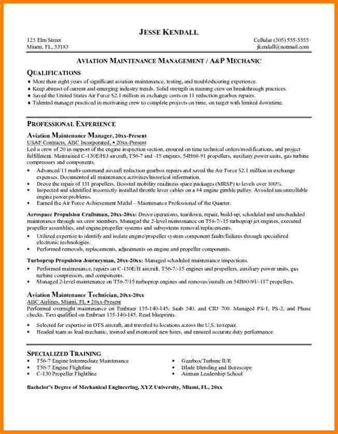 Service Letter Aviation Definition 10 Cv For Aircraft Mechanic Inventory Count Sheet
