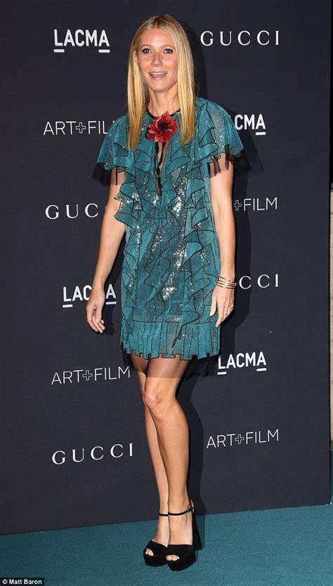 Foyer Accessories Gwyneth Paltrow Dazzles In Glittering Blue Minidress At