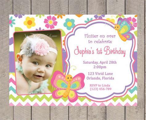 printable 1st birthday invitations girl birthday invites butterfly birthday invitations free
