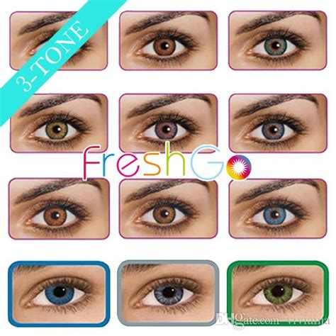colored multifocal contact lenses freshgo colored contact lenses fresh 3 tone eye contacts