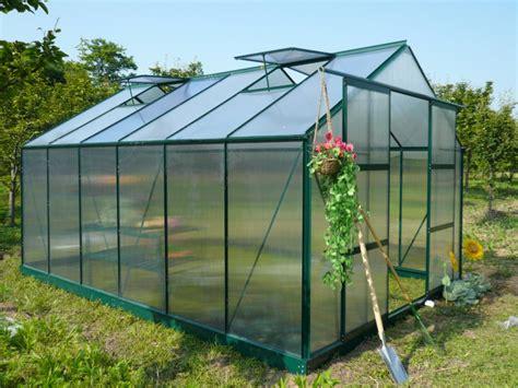 serre da giardino brico serre jardin polycarbonate 13m 178 kalida avec embase en acier