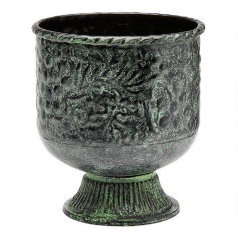 Metal Urn Planters by Embossed Metal Indian Urn Planter Tree Shops