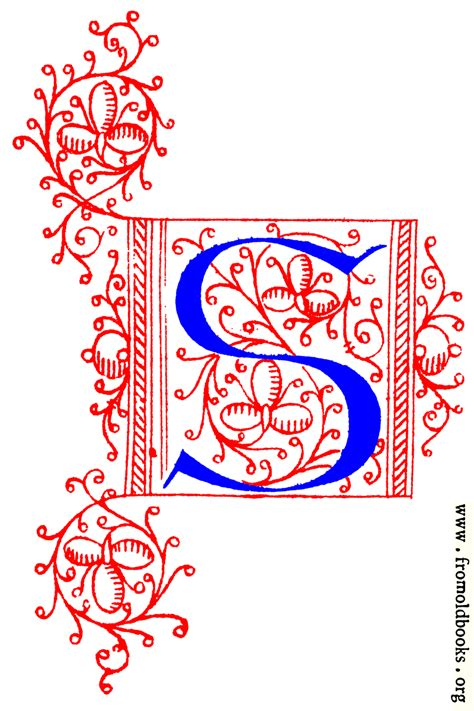 decorative initial letter s from fifteenth century nos 4