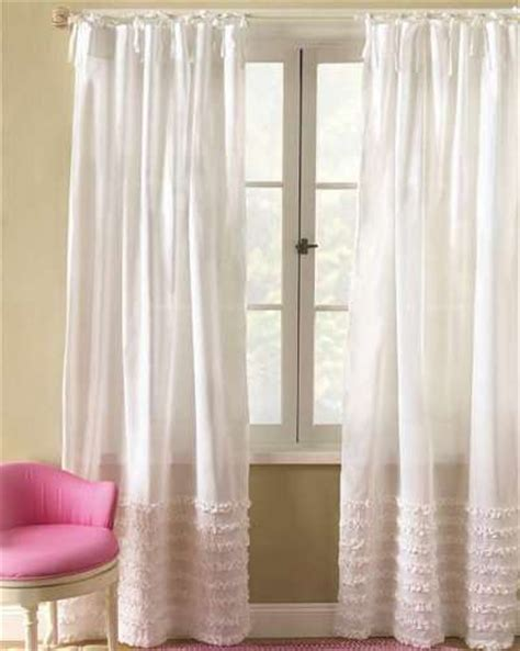 White Ruffled Curtains For Nursery Use Curtains To Avoid Being A Tao Big City Small Apartment