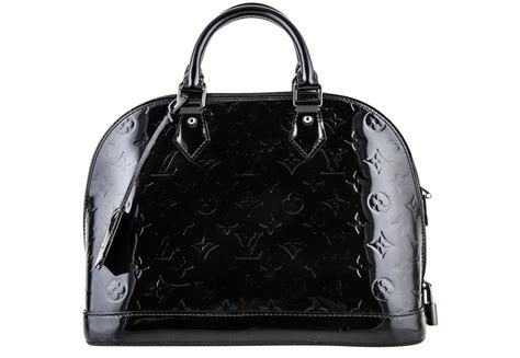 louis vuitton alma noir pm monogram vernis  black