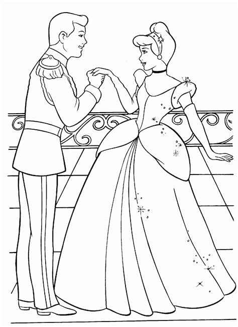 free coloring pages of cinderella with fairy