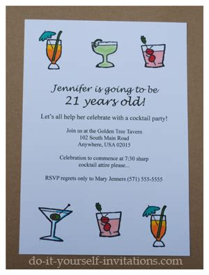 21st birthday invitation wording sles make diy 21st birthday invitations