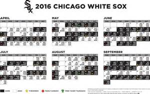 sox schedule home chicago white 2016 printable schedule calendar template 2016