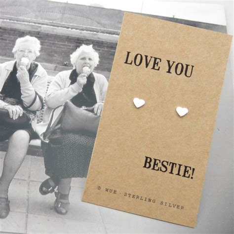 best gift for my silver best friend gift earrings by wue