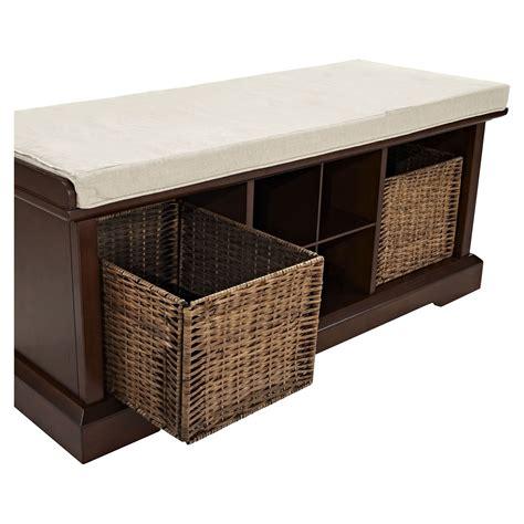 mahogany storage bench brennan entryway storage bench mahogany dcg stores