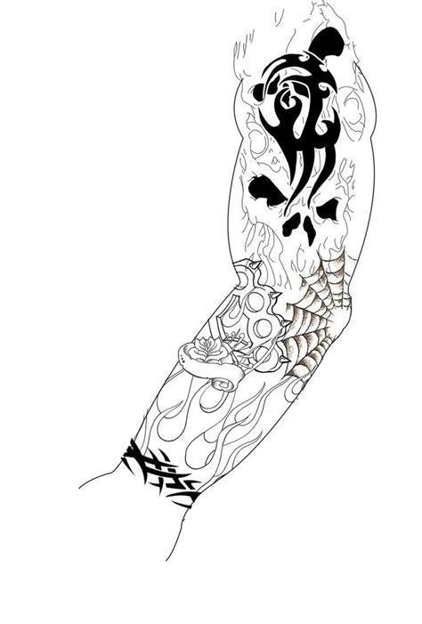 random sleeve tattoo designs sleeve design by guitar master 101 on deviantart