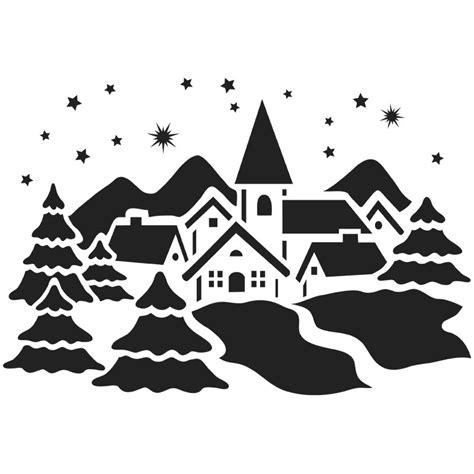 Weihnachtsdeko Fenster Schablonen fenster kunststoff schablone din a4 winterdorf