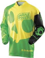 skullcandy motocross gear answer racing skull jersey