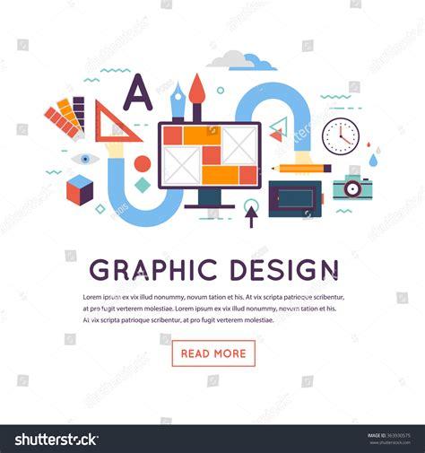 graphic design workflow graphic design workflow process banner landing vectores en