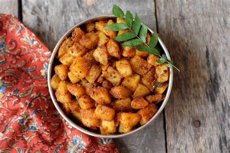aloo fry recipe how to make potato fry crispy with less oil
