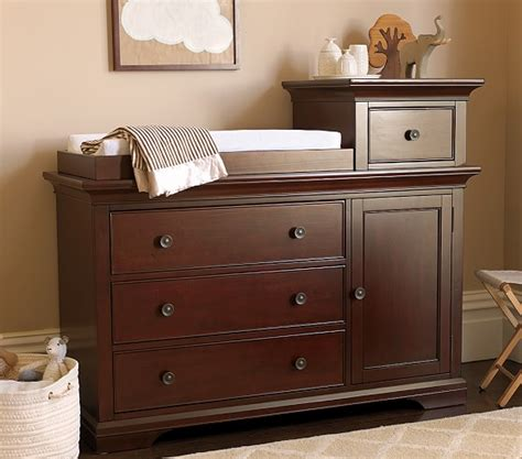 Larkin Changing Table Larkin Hi Lo Changing Table Sun Valley Espresso Pottery Barn