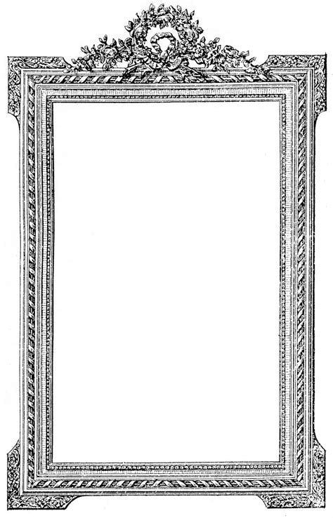 clipart frames antique picture frame clip image the