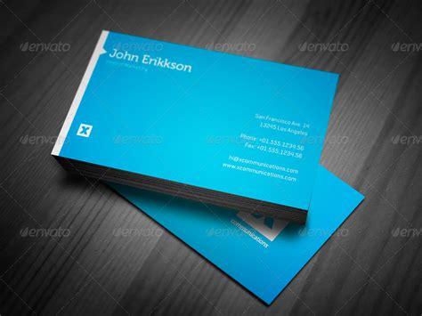 free orange and blue business card templates blue business card by prefab factory graphicriver