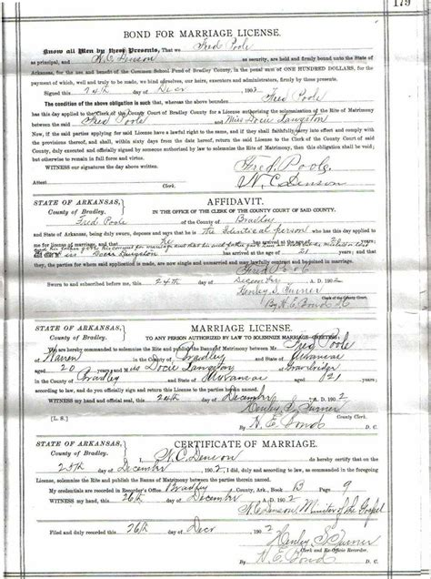Arkansas Marriage License Records Bradley County Arkansas Marriage Records Before 1940 Grooms